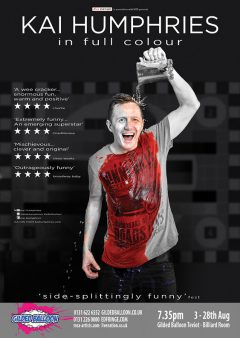 Kai Humphries In Full Colour Edinburgh Fringe 2016 flyer