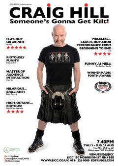 2017 Edinburgh Fringe Craig Hill poster