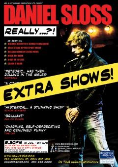 Daniel Sloss Edinburgh 2014 extra shows