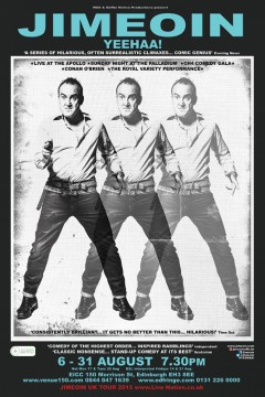Jimeoin 2015 Edinburgh Fringe poster