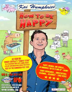 Kai Humphries Edinburgh 2015 How To Be Happy poster