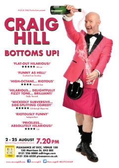 Craig Hill Bottoms Up Edinburgh Fringe 2019 poster