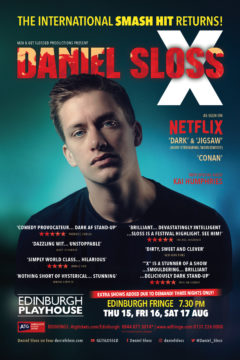 Daniel Sloss X Edinburgh Fringe 2019