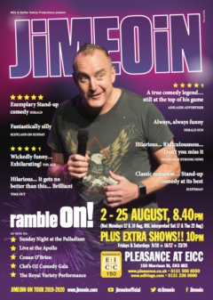 Jimeoin RAMBLE ON Edinburgh 2019 poster